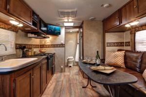 bullet travel trailer interior