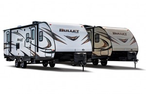 bullet travel trailer exterior