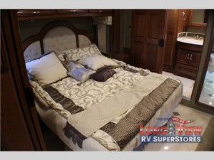 forest river charleston diesel class a motorhome bedroom