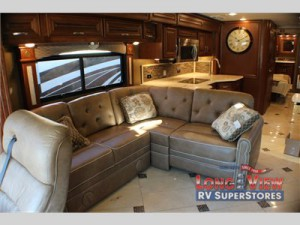 forest river charleston diesel class a motorhome sofa kitchen