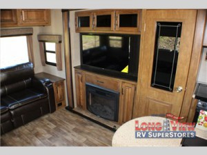 Grand Design Reflection Fifth Wheel fireplace