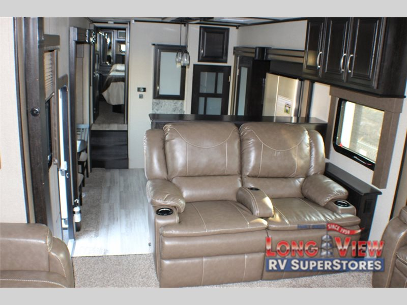 Grand Design Momentum Fifth Wheel Toy Hauler Living area