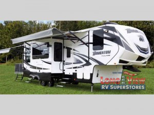 Grand Design Momentum M Class Fifth Wheel Toy Hauler