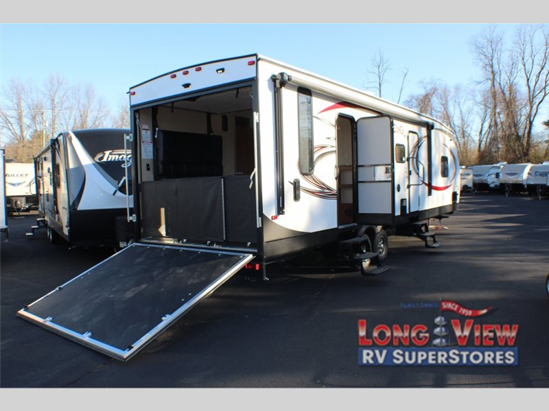 forest river Vengeance Super Sport toy hauler travel trailer rear ramp