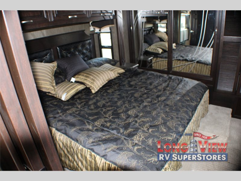The Berkshire XL Class A Master Bedroom Complete with King-Size Bed
