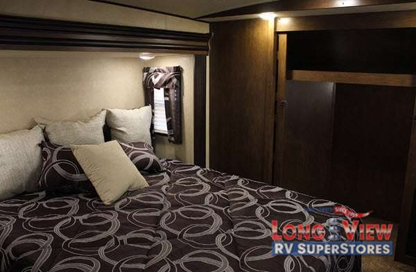 Wildwood Heritage Glen Fifth Wheel Master Bedroom