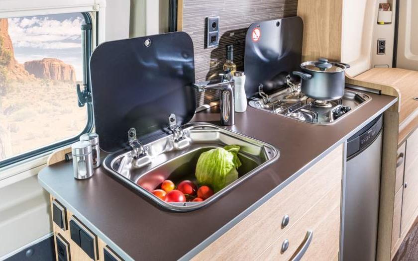 Hymer Aktiv Class B Motorhome Kitchen