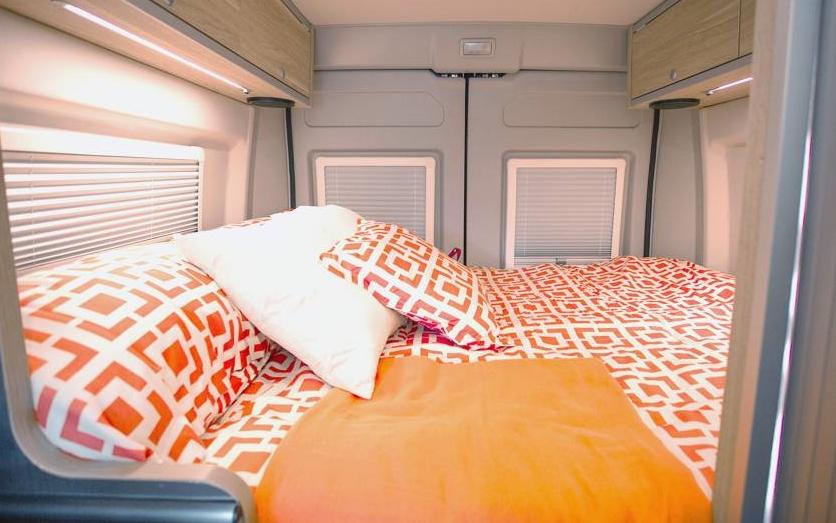 Hymer Aktiv Class B Motorhome Bedroom