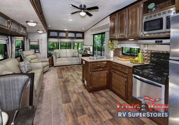 Wildwood DLX Destination Trailer Kitchen