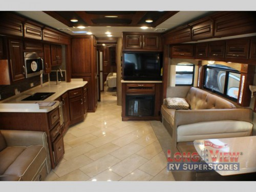 Forest River Charleston Class A Diesel Motorhome Living Room