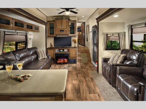 Forest River Wildwood Heritage Glen Fifth Wheel Living Room