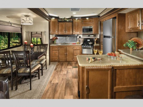 Forest River Wildwood Heritage Glen Fifth Wheel Kitchen