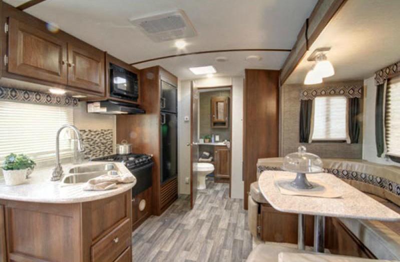 large RV kitchen