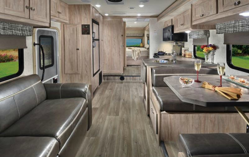 living area of sunseeker class c motorhome