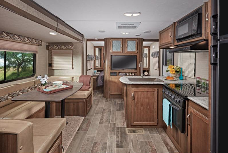 living area bullet travel trailer