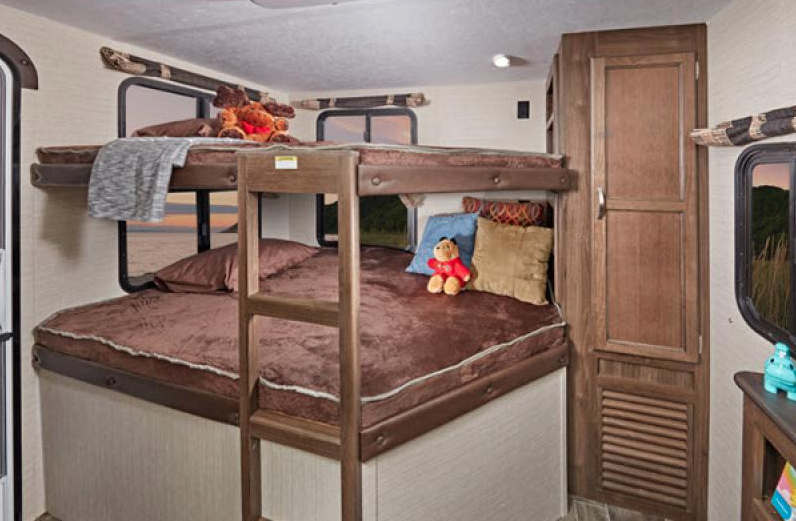 bunks in bullet travel trailer