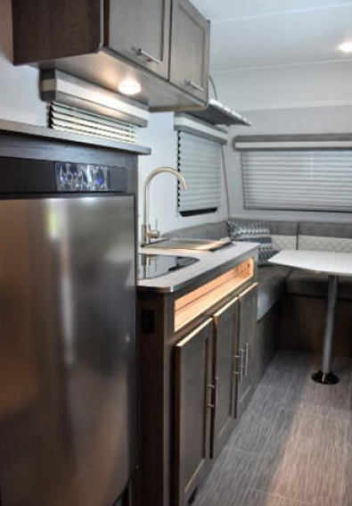 kitchen in no bo travel trailer